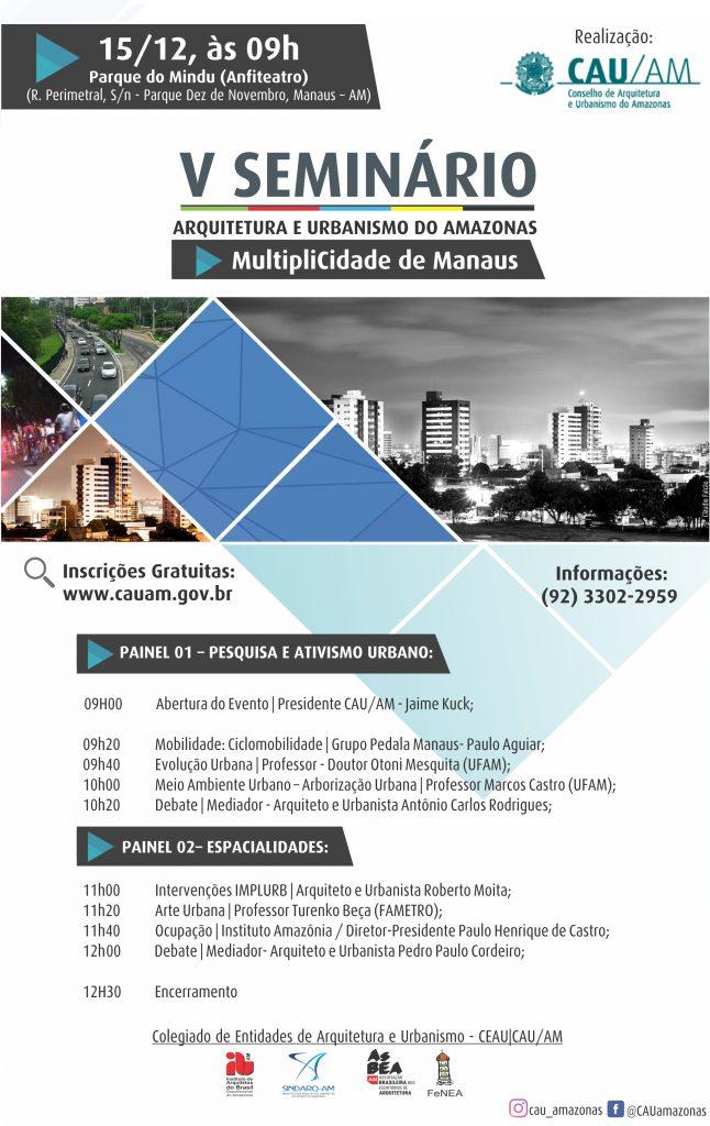 V Seminário de Arquitetura e Urbanismo do Amazonas