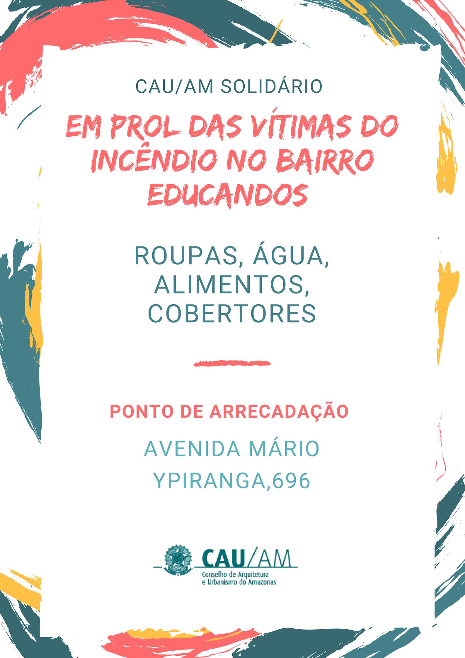 Conselho de Arquitetura e Urbanismo do Amazonas, recolhe donativos ... 0400258ba4